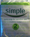 SIMPLE Soap 2 BAR PACK